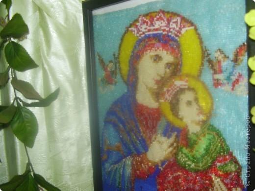 Рождество Бисероплетение иконы из бисера Бисер фото 2.