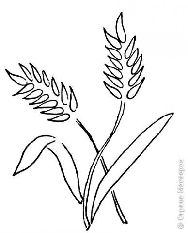Вырезание Колосья пшеницы