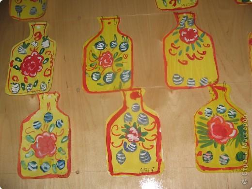 Городецкая роспись в детских садах