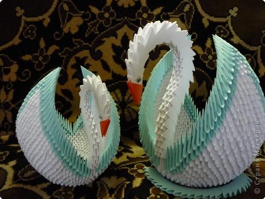 Оригами модульное: Лебеди к 8 марта фото 1