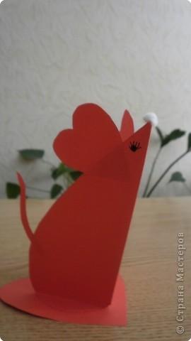 Бумагопластика: Влюбленная мышка. фото 1