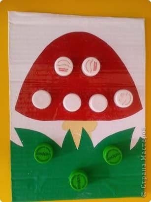 Игры пальчиковые Аппликация Пособия для развития мелкой моторики и цветовосприятия Бутылки пластиковые фото 1