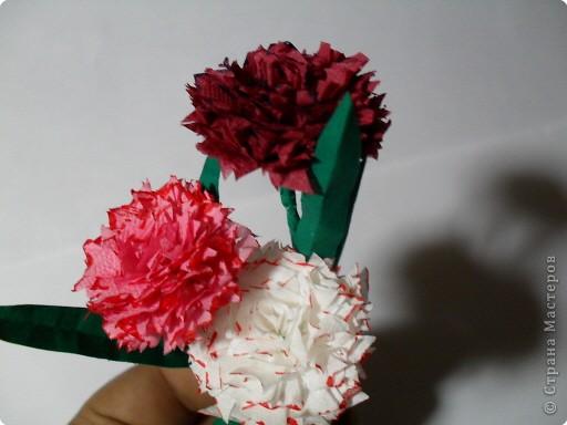 Считаете, что мужчинам не принято дарить цветы? Ошибаетесь.  Среди огромного  разнообразия  цветочных сортов, есть множество, подходящих именно для мужских букетов. И в числе несомненных лидеров, хорошо всем знакомая гвоздика.  Что ж, давайте попытаемся смастерить этот красивый цветок своими руками и заодно подготовим  к 23 февраля подарок мужчинам.