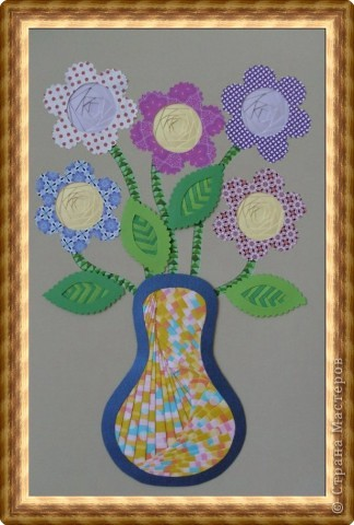 Фолдинг цветы в вазе бумага фото 1