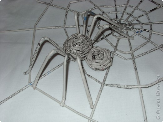 Своими руками паук из бумаги