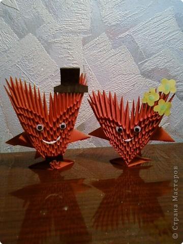 Оригами модульное: Валентинки