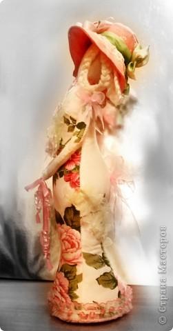 Игрушка Шитьё Дама в шляпе Ткань фото 1