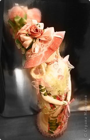 Игрушка Шитьё Дама в шляпе Ткань фото 2