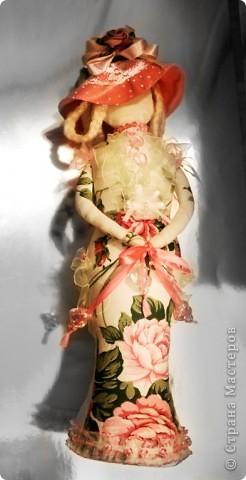 Игрушка Шитьё Дама в шляпе Ткань фото 3