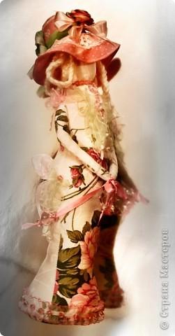 Игрушка Шитьё Дама в шляпе Ткань фото 4
