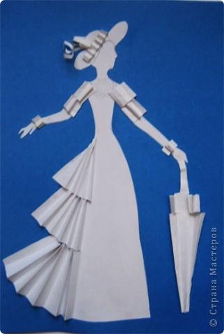 """Идея создания  такого исторического костюма в технике  бумагопластика   принадлежит моей коллеге Гончаровой А.К. Я предлагаю вашему вниманию мои методические разработки  к урокам изобразительного искусства по теме : """"Человек, декор, общество, время."""" фото 13"""