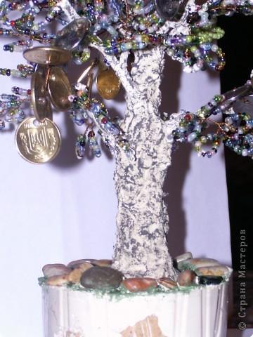 Бисероплетение: моё первое денежное деревце фото 3