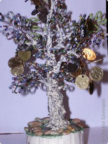 Бисероплетение: моё первое денежное деревце фото 1
