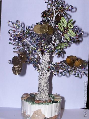 Бисероплетение: моё первое денежное деревце фото 2
