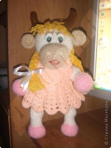 Вязание крючком: Коровка Матрена