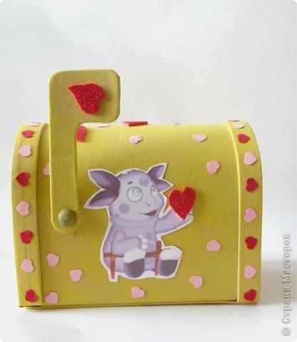 Почтовый ящик для валентинок и валентинки в детский сад. фото 2