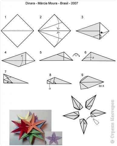 изделие Оригами Кусудама