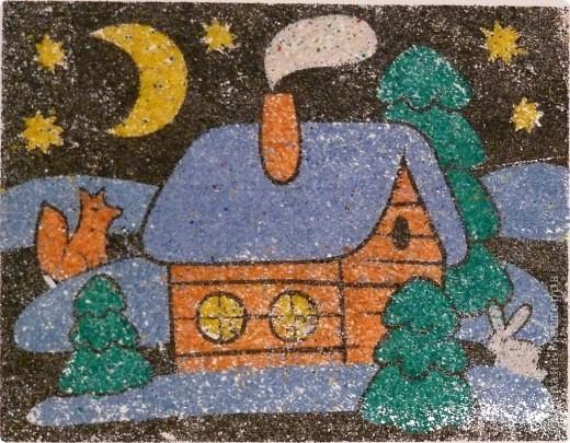 Как с детьми сделать картину из песка