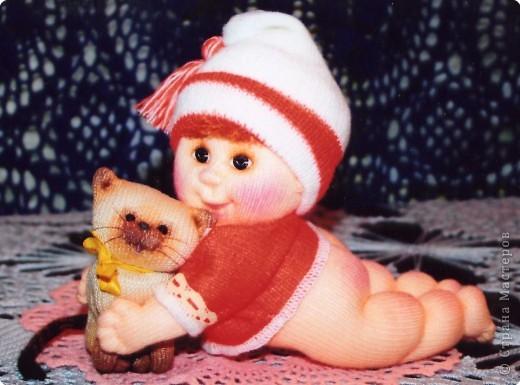 Я матрос, хоть и не дорос. Текстильная кукла. Рост 25 см фото 13