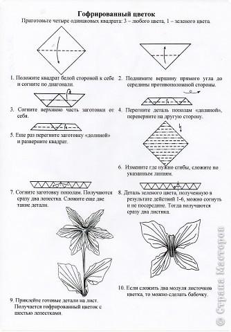 8 марта Оригами Цветы оригами для любимой мамы СХЕМЫ Бумага фото 8