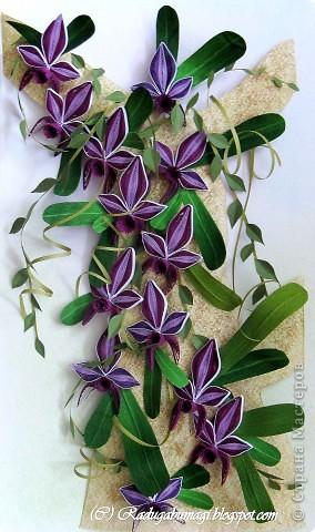 """Мне очень нравятся орхидеи, но, к сожалению, далеко не все виды орхидей могут расти в нашем климате. Я решила сделать себе ещё один подарок, """"вырастив"""" бумажную орхидею.   Небольшая справка: Орхидеи могут расти как в грунте (на земле), так и на деревьях и иногда на скалах. Область распространения орхидей достаточно обширна, но больше всего их встречается именно в жарком, влажном климате, т.е. в тропиках. Дикие тропические орхидеи в основном растут на деревьях (на нижних ветках и стыках веток со стволом дерева).  фото 20"""