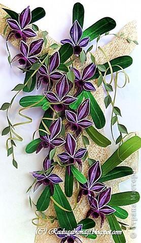 """Мне очень нравятся орхидеи, но, к сожалению, далеко не все виды орхидей могут расти в нашем климате. Я решила сделать себе ещё один подарок, """"вырастив"""" бумажную орхидею.   Небольшая справка: Орхидеи могут расти как в грунте (на земле), так и на деревьях и иногда на скалах. Область распространения орхидей достаточно обширна, но больше всего их встречается именно в жарком, влажном климате, т.е. в тропиках. Дикие тропические орхидеи в основном растут на деревьях (на нижних ветках и стыках веток со стволом дерева).  фото 1"""