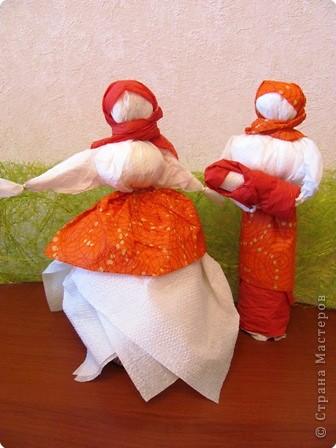 Кукла из салфеток своими руками фото