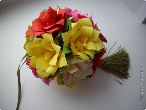 Кусудама Мастер-класс День рождения Оригами кусудама Розочка+МК Бумага фото 20