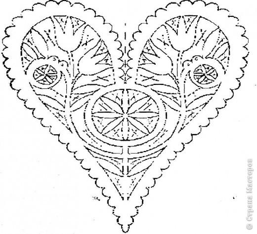 Вот такую открыточку можно вырезать ко дню влюбленных, но мне кажется она больше подходит для свадьбы. фото 6