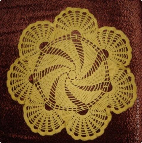 Вязание крючком: моя первая салфетка крючком