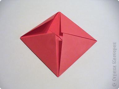 Мастер-класс 8 марта День матери День рождения День учителя Оригами Простая роза оригами Бумага фото 5