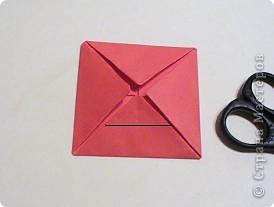 Мастер-класс 8 марта День матери День рождения День учителя Оригами Простая роза оригами Бумага фото 6