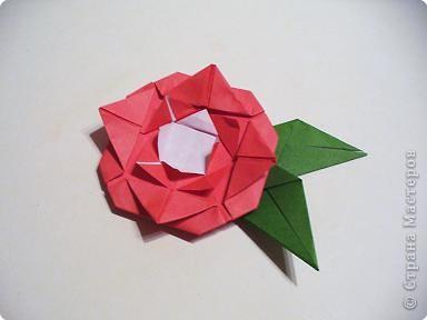 Мастер-класс 8 марта День матери День рождения День учителя Оригами Простая роза оригами Бумага фото 10