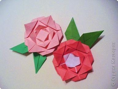 Мастер-класс 8 марта День матери День рождения День учителя Оригами Простая роза оригами Бумага фото 1