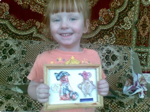 подарок бабушке, котик у самовара (Анна 4 года) фото 3