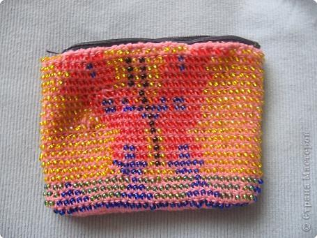 Поделка изделие Вязание крючком кошелек вязаный из бисера Бусинки фото 3.