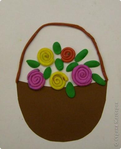Лепка: Цветы для мамочки!