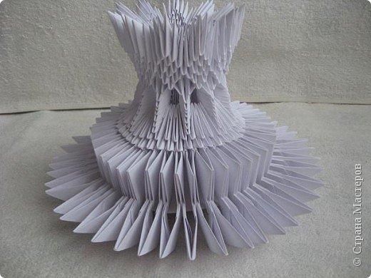Мастер-класс Поделка изделие Масленица Оригами китайское модульное Золотой самоварМК Бумага фото 17