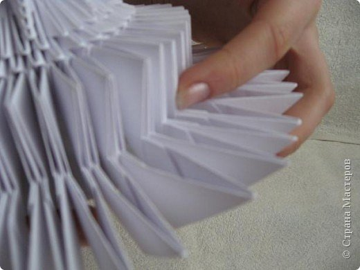 Мастер-класс Поделка изделие Масленица Оригами китайское модульное Золотой самоварМК Бумага фото 18