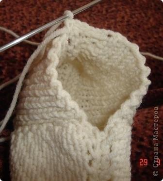 Гардероб Мастер-класс Вязание спицами Вязание следков Пряжа фото 16