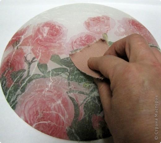 На этой тарелочке я покажу как можно имитировать рисовую бумагу.  фото 9