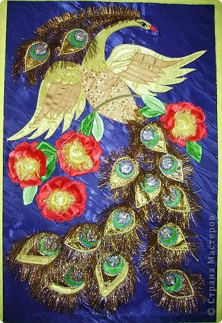 Жар-птица из ткани. фото 1