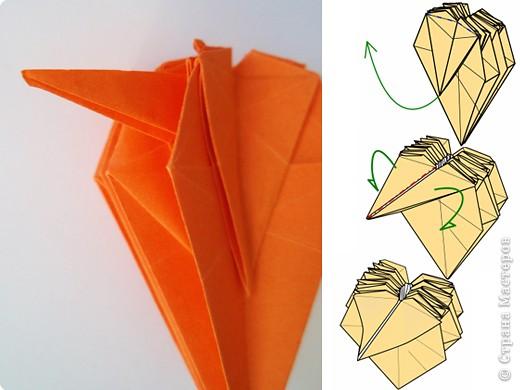 "готовый модуль-цветок для кусудамы ""Marguerite"", автор схемы - Mio Tsugawa фото 16"