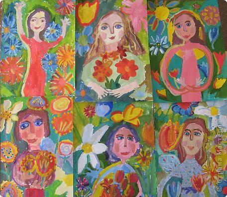 """групповой портрет """"мамы в цветах"""""""