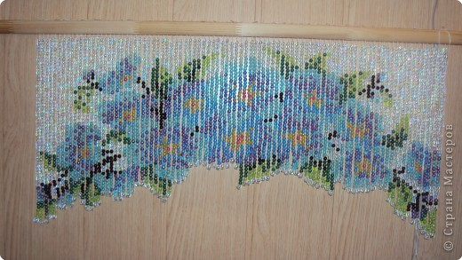 Интерьер Плетение Штора из бус Бусинки фото 1.