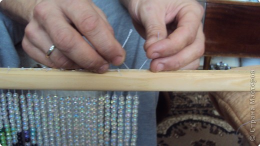 Как сделать штору из бусин своими руками фото
