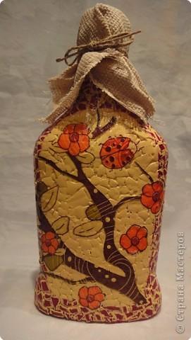 Бутылочку насыпушку с яйчным кракле сделала для своей подруги.  Надеюсь понравится. фото 1