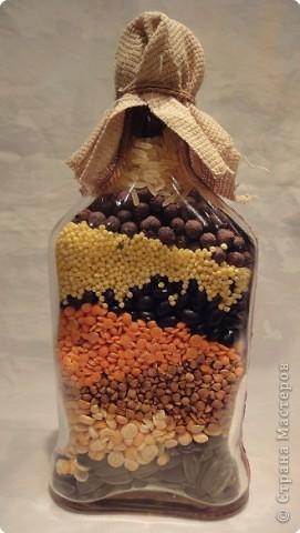 Бутылочку насыпушку с яйчным кракле сделала для своей подруги.  Надеюсь понравится. фото 2