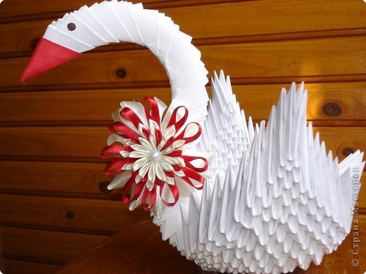Оригами модульное: Мой лебедь фото 1