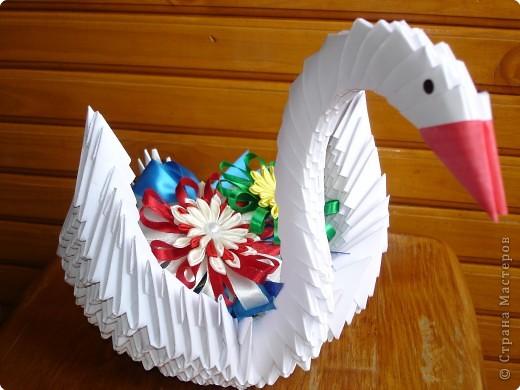 Оригами модульное: Мой лебедь фото 2